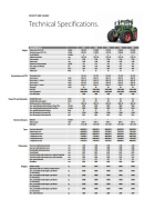 Fendt 900 Series Tractors - Technical Specification