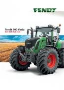 Fendt 800 Vario SCR Tractor Brochure