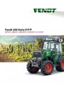 Fendt 200 Series Tractor Brochure - Fruit & Vineyard