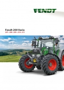 Fendt 200 Series Tractor Brochure