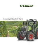 Fendt 200 Vinyard Fruit & Narrow Tractors Brochure